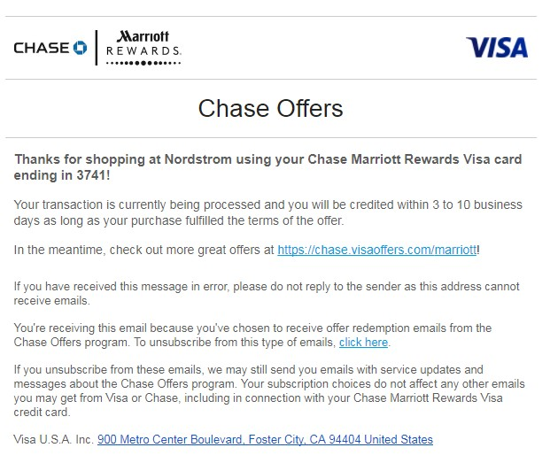 Chase Offer 使用指南【11/20更新:新增四个offer,附上简评】