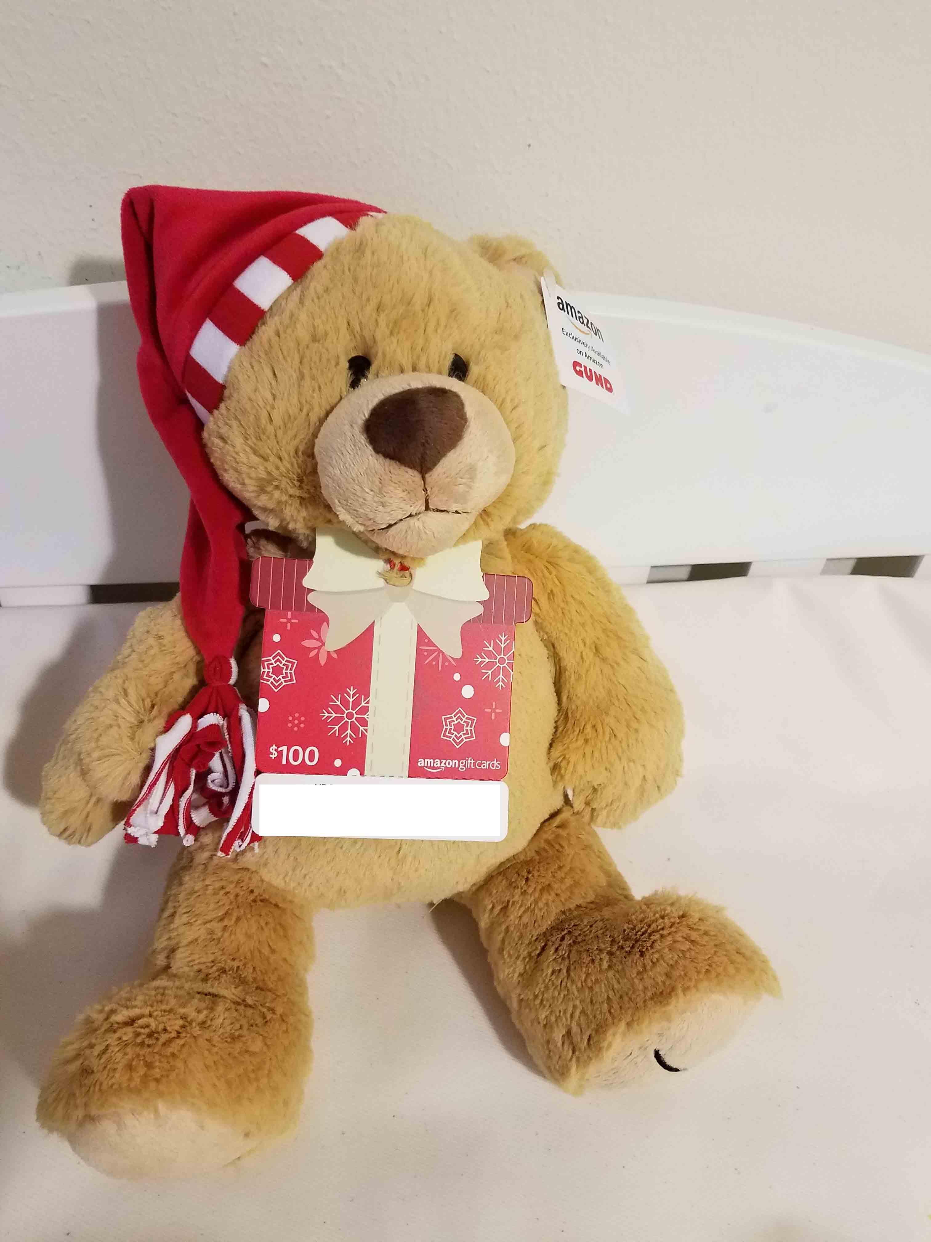 买Amazon Gift Card 送小熊活动【12/26更新:limit七天刷新,一次性可买两只】
