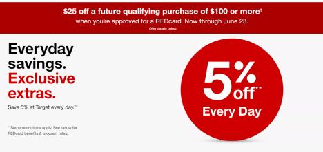 Target Red Debit/Credit Card 介绍【开卡送 off,消费5%折扣】