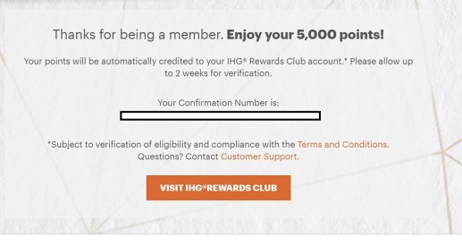 IHG 领免费5000积分,限前10000人,速度