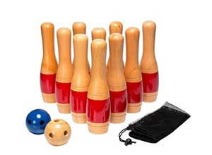 Wooden Lawn Bowling Game