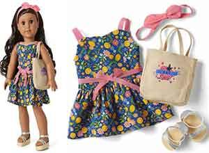 Fresh Lemons Market Outfit for 18-inch Dolls