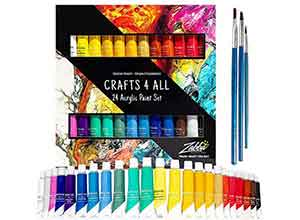 Acrylic Paint Set 24 Colors by Crafts 4 ALL