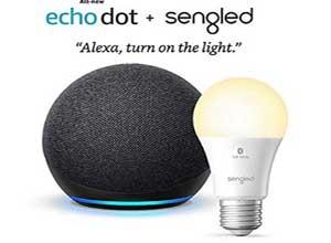 Echo Dot 4th Gen bundle W/ Sengled Bluetooth bulb