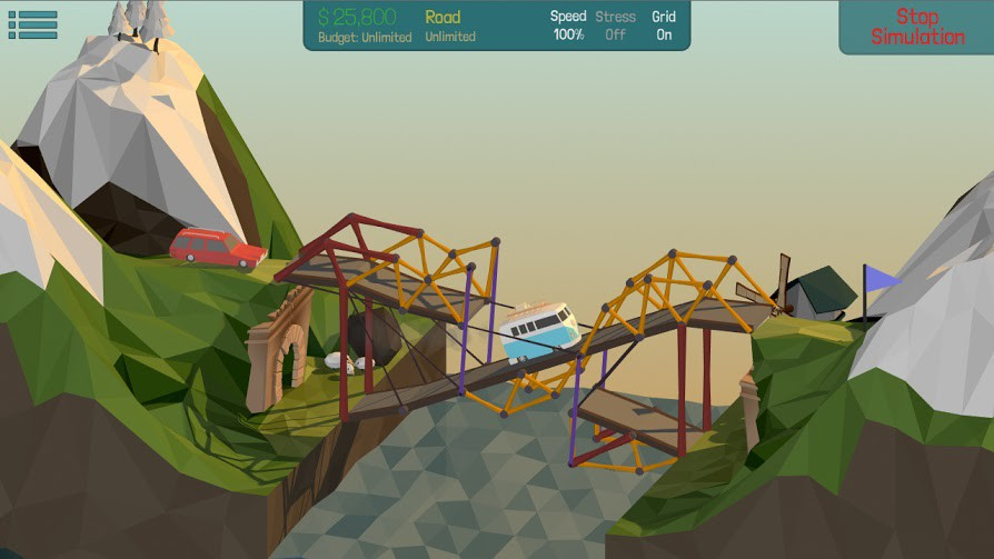 Physics based bridge building puzzler Poly Bridge hitting Steam Early Access later in June