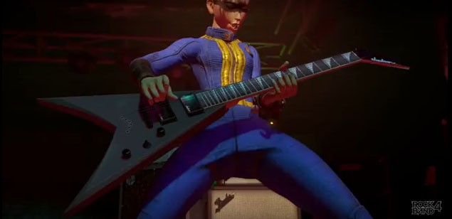 Rock it out with Rock Band 4 in your Vault 111 gear