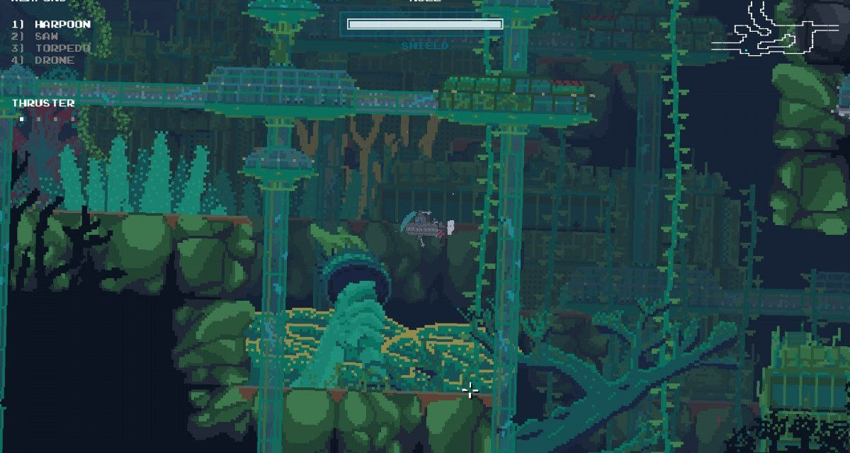 The beautiful, brilliant Metroid-esque The Aquatic Adventure Of The Last Human launches today on PC