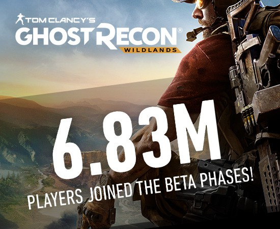 Ghost Recon Wildland's Beta phase made history with more than 6.8 million players taking part