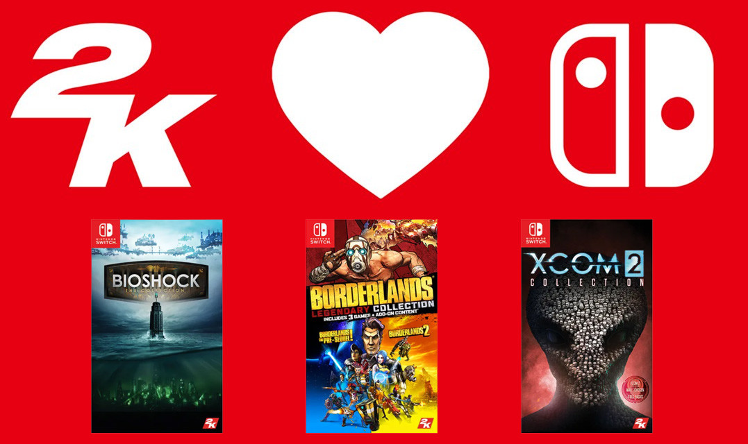 Bioshock: The Collection, XCOM 2 Collection and Borderlands Legendary Collection release today on the Switch