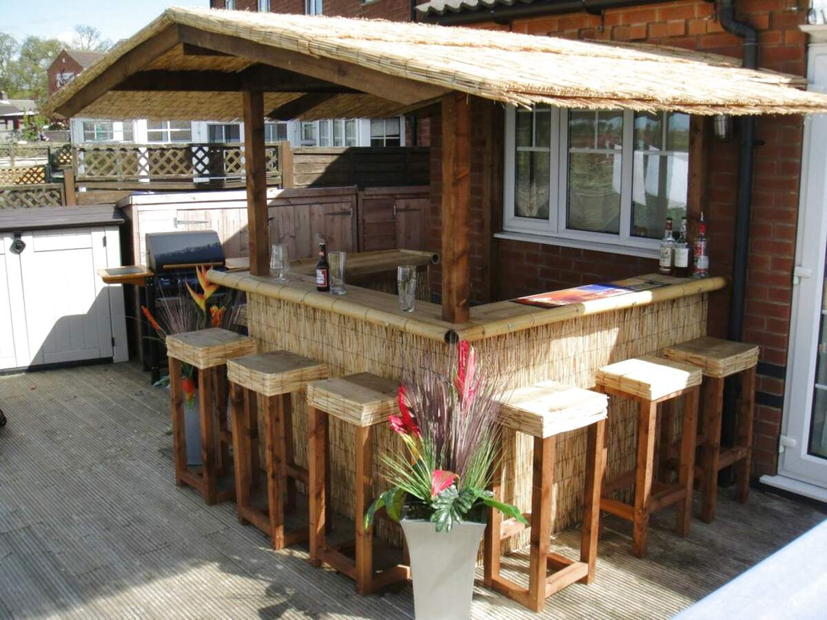 Outdoor Tiki Bar for sale | Only 2 left at -60% on Backyard Tiki Bar For Sale id=92809