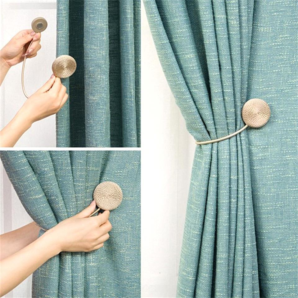 pcs magnetic curtain tiebacks