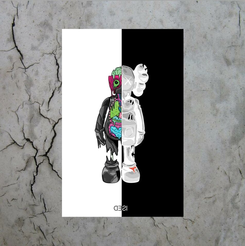 kaws poster for sale only 4 left at 65