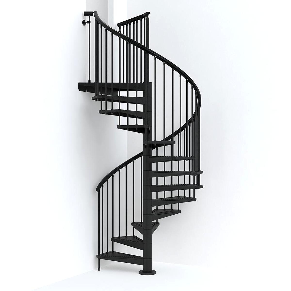 Spiral Staircase For Sale Only 2 Left At 65 | Wooden Spiral Staircase For Sale | Solid Wood | 36 Inch Diameter | Unique | Curved | Closed Riser