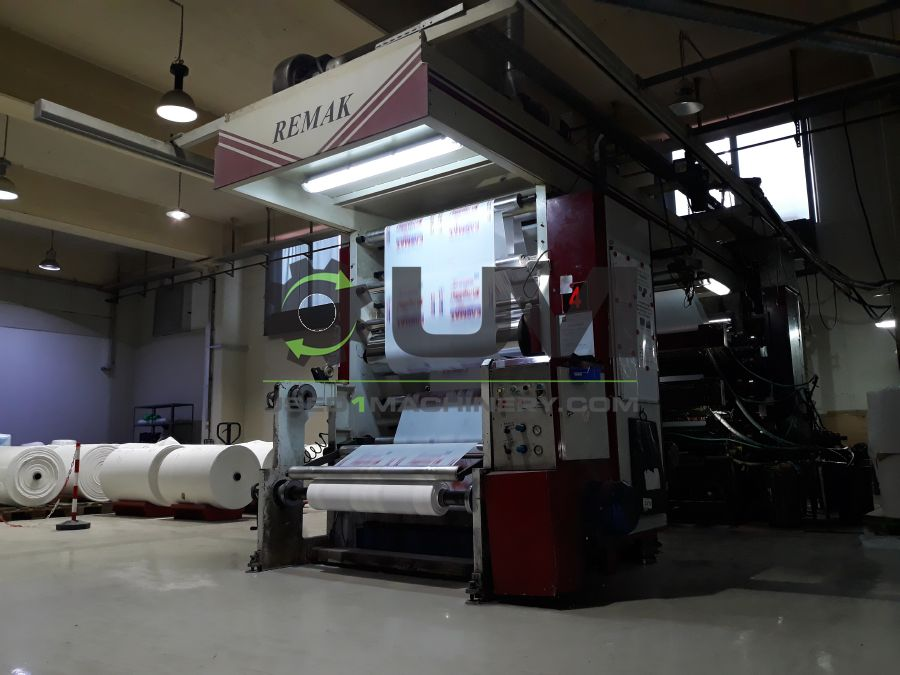 REMAK 6 colors Central Drum Flexo Printing Machine