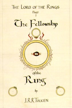 The Fellowship Of The Ring Book Cover by JRR Tolkien_1