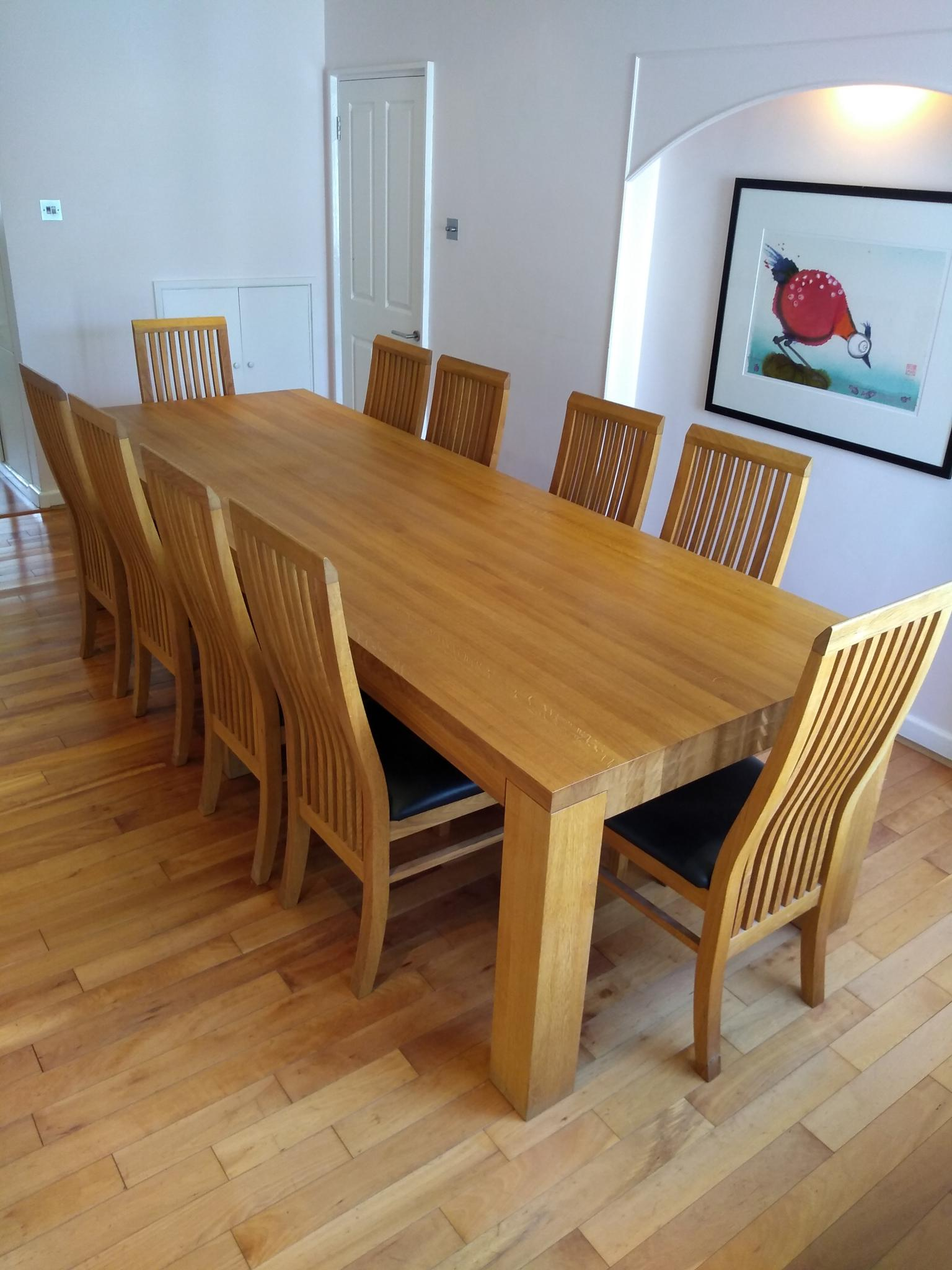 Large Used Dining Table And Chairs London