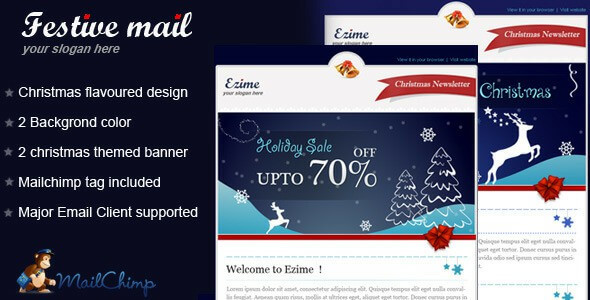 Awesome Christmas Email Newsletter Templates   Usefulblogging