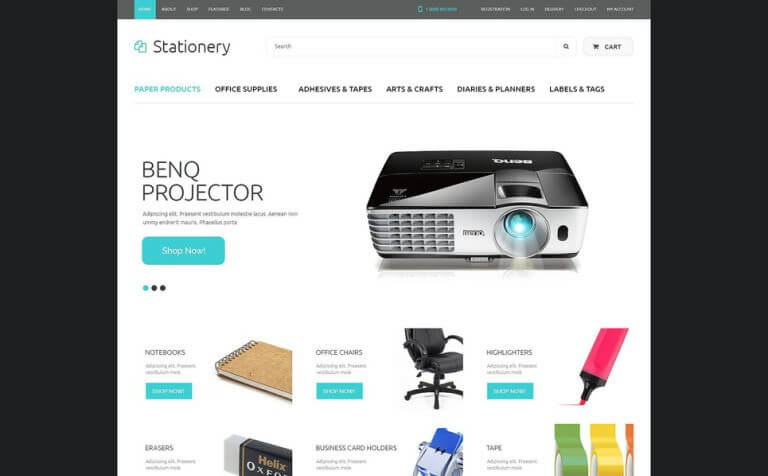 6 Best Stationery Shop WooCommerce Themes & Templates 2017 ...