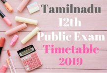 Tamilnadu-12th-Public-Exam-Timetable-2019