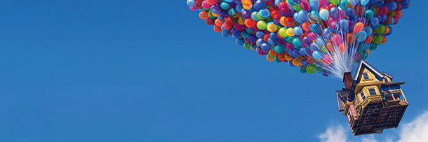"How many balloons were needed to lift Carl's house in ""Up""?"