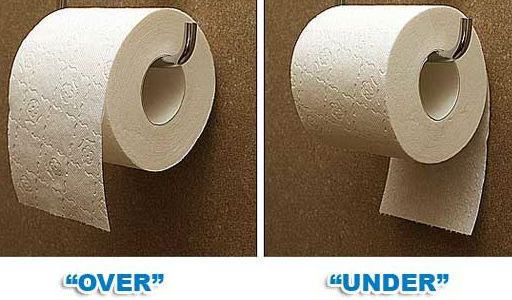 How people unroll their toilet paper according to their annual income!