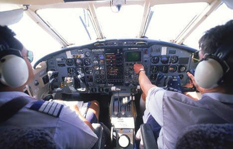 What percentage of pilots has fallen asleep while flying?