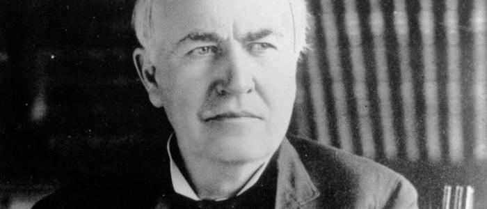How did Thomas Edison propose to his wife?