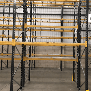 Used pallet racking installation