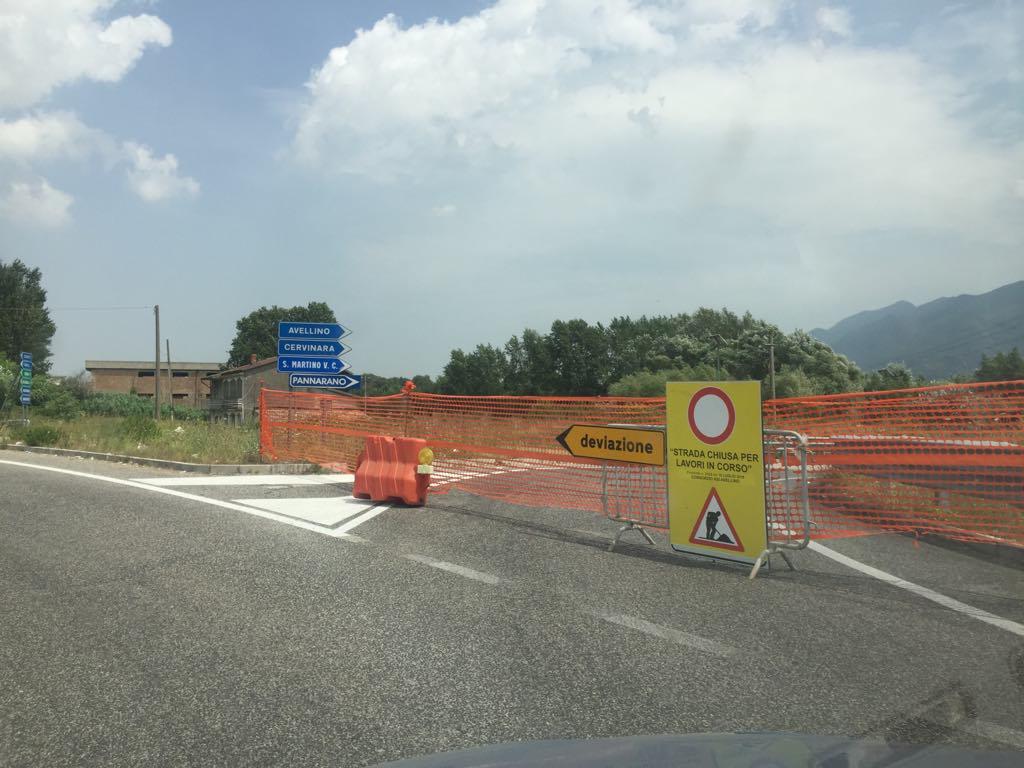 Valle Caudina | Scorrimento Veloce ancora chiusa per lavori