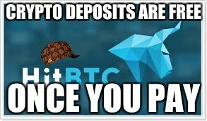 Crypto deposits are free once you pay