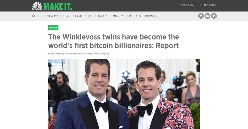 Who are the Winklevoss twins?