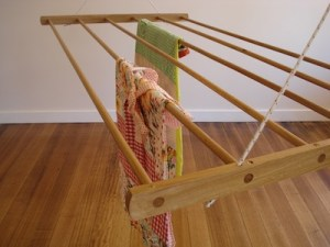 timber clothes drying or airing rack from usethings. sheila maid