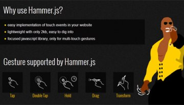Add Touch Gestures in Websites With JavaScript – Hammer.js