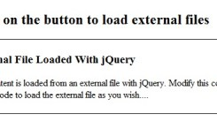 Load External File With jQuery