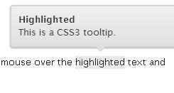 Beautiful ToolTip With CSS3