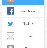 Slide Out Floating Share Buttons For Blogger
