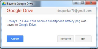 Google Drive add-on upload box