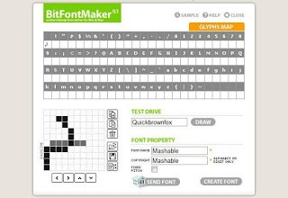 BitfontMaker is another font editor tool that allows you to create your own font .