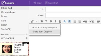 How to Send Larger Email Attachments In Yahoo Mail with Dropbox