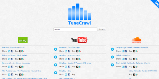Enjoy Spotify, YouTube and Soundcloud Music At One Place with TuneCrawl