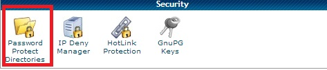 Password protect directory