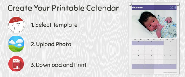 Pically: Printable Photo calendar designer tool