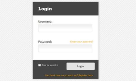 Animated Login Form with jQuery