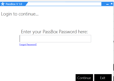password management tool - Passbox