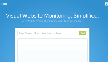VisualPing Sends Visual Alerts When Website Changes