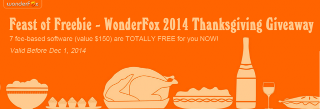 Grab 7 Premium Software worth $150 for free - WonderFox ThanksGiving Giveaway