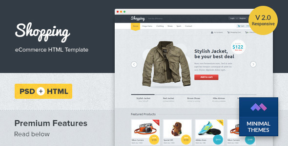 Shopping - Responsive eCommerce HTML Template