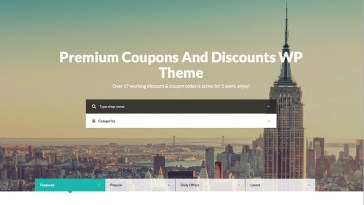 Couponer WordPress themes for coupon website
