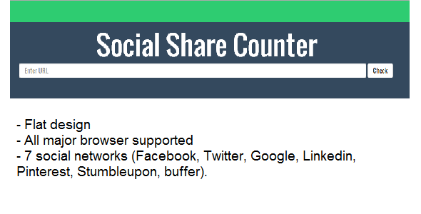 social share counter