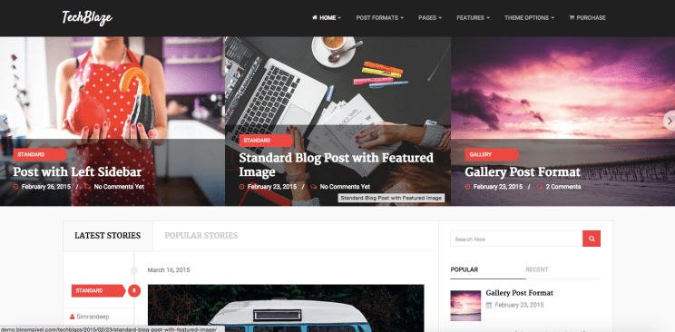 TechBlaze  WordPress newspaper theme